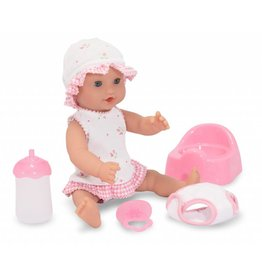 "MELISSA AND DOUG ANNIE DRINK AND WET 12"" DOLL"