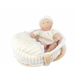 CREATIVE EDUCATION BABY DOLL WITH CARRY COT & BLANKET**