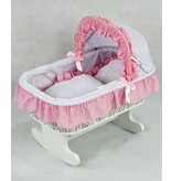 REGAL DOLL CARRIAGES SUSANNE ROCKING DOLL BED