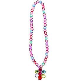 GREAT PRETENDERS FLOWER GEM BEAD NECKLACE