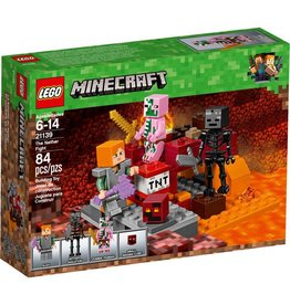 LEGO THE NETHER FIGHT MINECRAFT