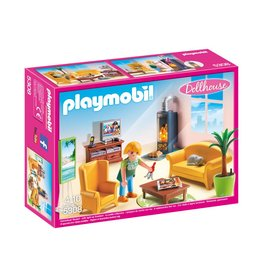LIVING ROOM WITH FIREPLACE PLAYMOBIL