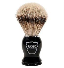 Parker Parker Brush - Silver Tip Badger, Black Resin Handle