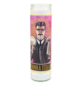 Unemployed Philosophers Guild Secular Saint Candle - Nikola Tesla