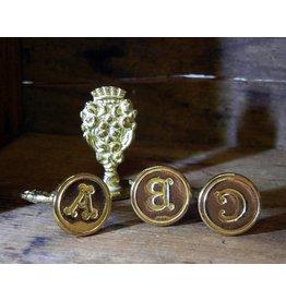 Freund Mayer Brass Seal Initials A-M