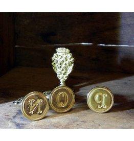 Freund Mayer Brass Seal Initials  N-Z