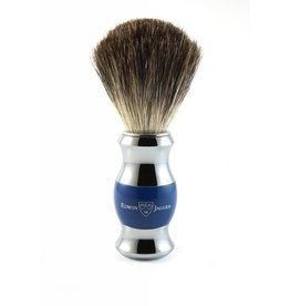 Edwin Jagger Edwin Jagger Pure Badger Brush - Blue, Chrome Plated