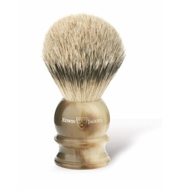 Edwin Jagger Edwin Jagger Silvertip Badger Brush - Medium, Imitation Horn