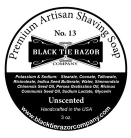 Black Tie Razor Company Black Tie Razor Co. Unscented Shaving Soap