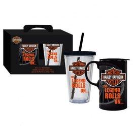 Evergreen Harley-Davidson Hot & Cold Mug Set