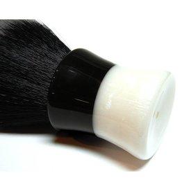 E.B. Latheworks E.B. Latheworks Synthetic Brush - Black & White Handle w/ Tuxedo Knot