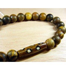 My Gigi's House Beads Bracelet - Matte Jasper & Bone