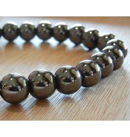 My Gigi's House Beads Bracelet - Round Hematite Beads