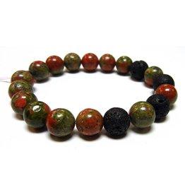 My Gigi's House Beads Bracelet - Unakite & Lava