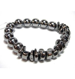 My Gigi's House Beads Bracelet - Round & Wacky Hematite