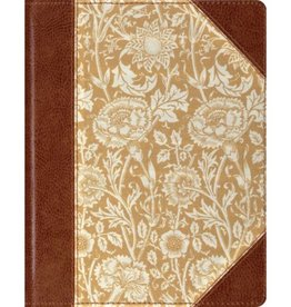 CROSSWAY ESV SINGLE COLUMN JOURNALING BIBLE- ANTIQUE FLORAL DESIGN