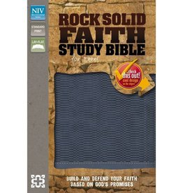 NIV ROCK SOLID FAITH STUDY BIBLE FOR TEENS - BLUE IMITATION LEATHER