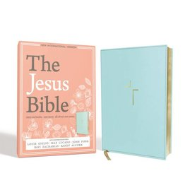 THE JESUS BIBLE BLUE LEATHER