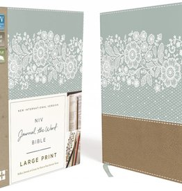 NIV - JOURNALING THE WORD LARGE PRINT TURQUOISE/TAN