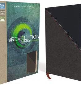 NIV REVOLUTION BIBLE FOR TEEN GUYS - CHARCOAL/NAVY