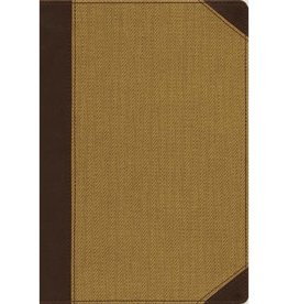 NIV CULTURAL BACKGROUNDS LARGE PRINT STUDY BIBLE - BROWN/TAN
