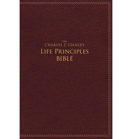 CHARLES STANLEY NIV CHARLES STANLEY LIFE PRINCIPLES STUDY BIBLE BURGUNDY