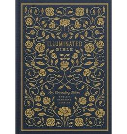ESV Illuminated Bible, Art Journaling Edition (Cloth Over Board) Navy