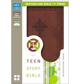 NIV Compact Study Bible - Brown Imitation Leather