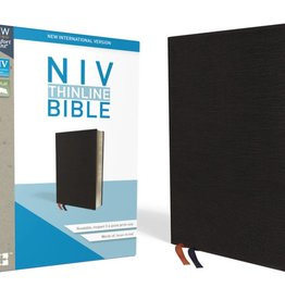 NIV Thinline BIble - Black Indexed