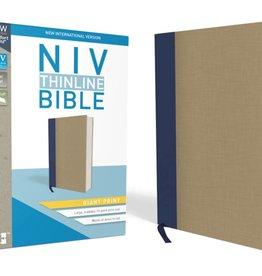 NIV Giant Print Thinline Bible - Blue/Tan
