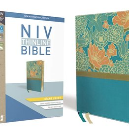 NIV Giant Print Thinline Bible - Turquoise