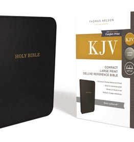 KJV Compact Large Print Deluxe Reference Bible - Black Leathersoft