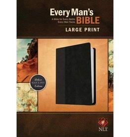 Every Man's Bible-NLT-Large Print Black