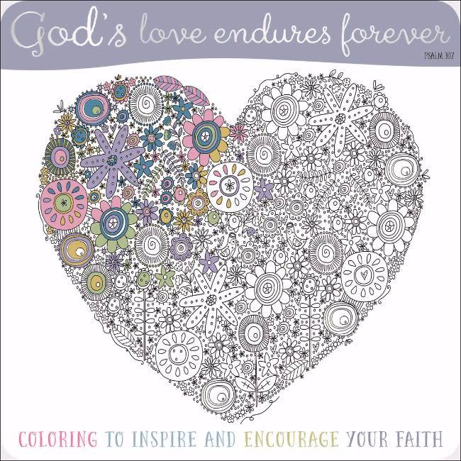 God\'s Love Endures Forever Coloring Book - Seacoast Bookstore