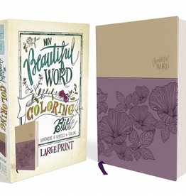 NIV Beautiful Word Coloring Bible Large Print Purple/Tan