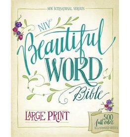 NIV Beautiful Word Bible Large Print Hardback