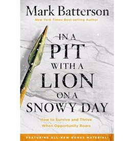 MARK BATTERSON IN A PIT WITH A LION