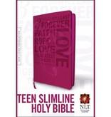 NLT TEEN SLIMLINE STUDY BIBLE HOT PINK