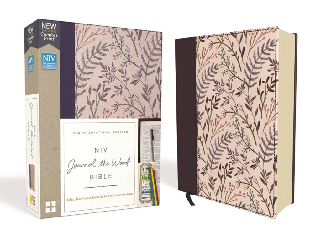 NIV Journal The Word Bible Cloth Pink Floral