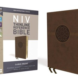 NIV Large Print Thinline Reference Bible - Brown
