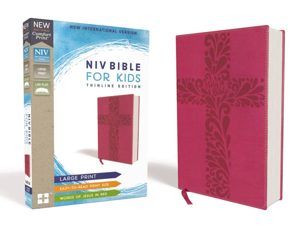 NIV Bible For Kids Large Print Thinline Edition - Pink