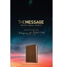 The Message Devotional Bible - Brown Leatherlike