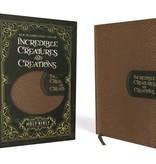 NIV Incredible Creatures And Creations Bible - Tan/Green