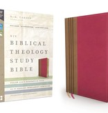 NIV Biblical Theology Study Bible - Raspberry/Tan
