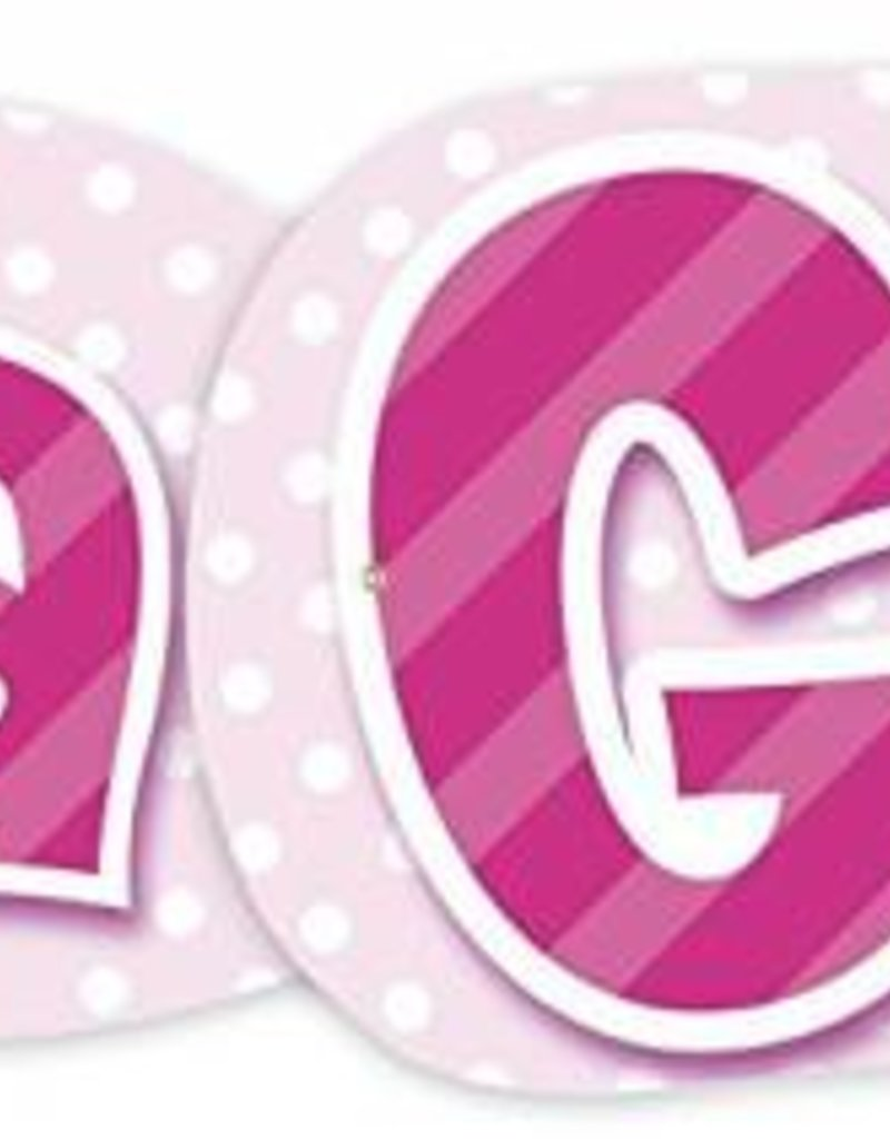 giant it s a girl banner 4 47ft baby shower dots party boutique
