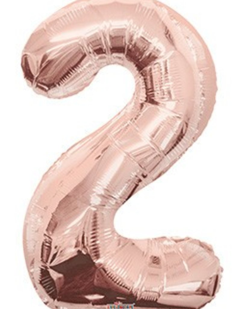 34 Rose Gold Jumbo Number 2 Balloon Dots Party Boutique Baloon