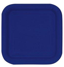 8.75  Navy Blue Square Paper Plates  sc 1 st  Dots Party Boutique & Square Paper Plates - Dots Party Boutique