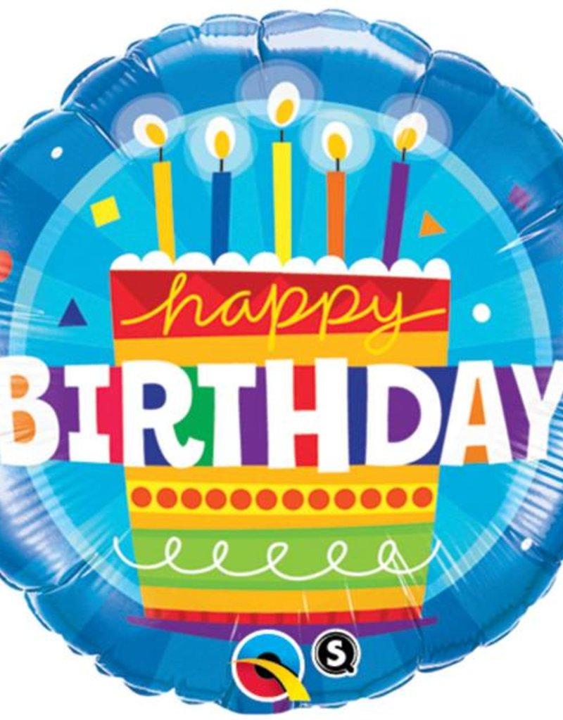 Blue Birthday Cake Foil Balloon Balloons Millstone Shopping Center