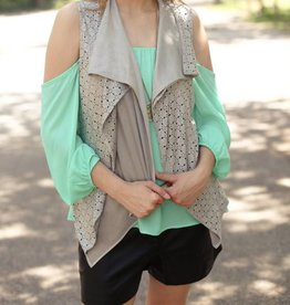 PUNCHYS Classic Southern Suede Eyelet Vest