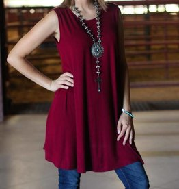 PUNCHYS Sleeveless Shift Tunic Dress  {4 Colors}